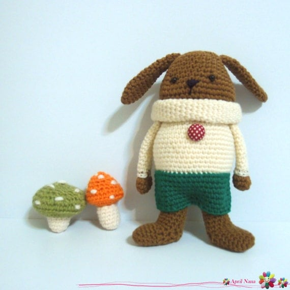 Toddy Rabbit, crochet Pattern ,Amigurumi ,cute ,crochet,DIY,