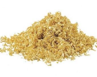 100 mg edible gold flakes, Edible Gold Crumbs Sprinkles, edible genuine, 24 karat
