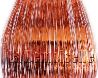 "20"" Hair Tinsel 100 Strands - Shiny Orange"