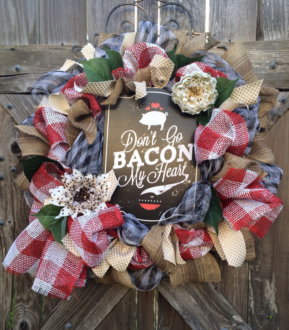 All Season Wreath Kitchen Decor Pig Decor Pig Don 39 T Go