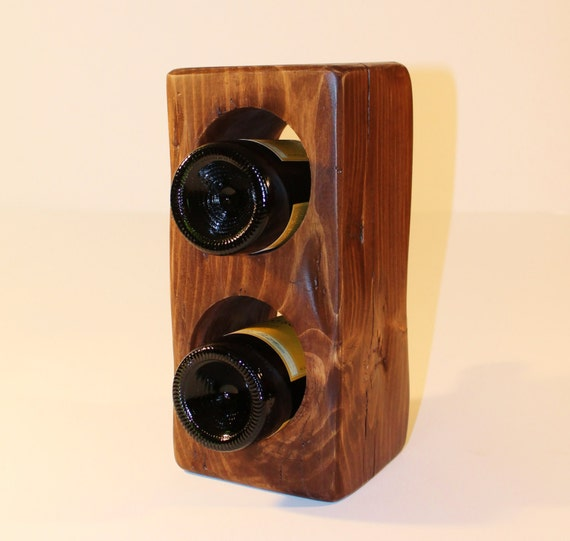 ... wine rack - reclaimed wood beam bottle holder - tabletop wine storage