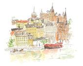 Travel through Stockholm