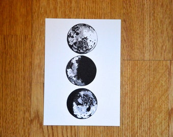 Illustrated Moons Postcard