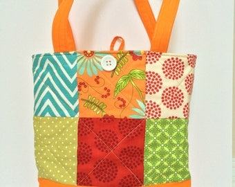 Quilted tote, quilted bag, quilted purse