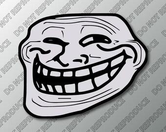 Internet Troll Face - Rage Comic Meme Vinyl Decal