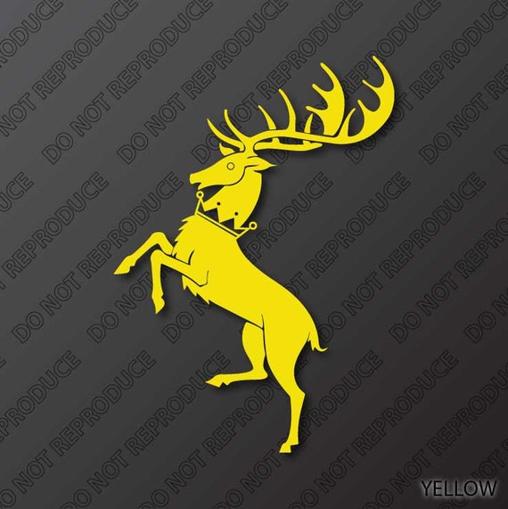 Game Of Thrones Themed Sigil Of House Baratheon 1 Color Vinyl