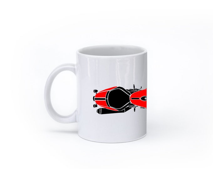 KillerBeeMoto:  U.S. Made Coffee Mug Limited Release Italian Engineered Modern Cafe Racer Motorcycle Coffee Mug (White)