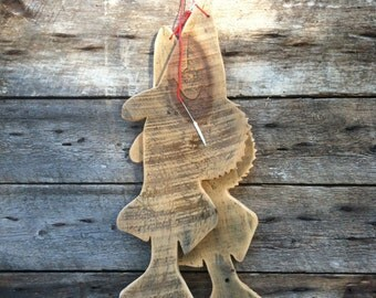 Walleye stringer made out of reclaimed lumber