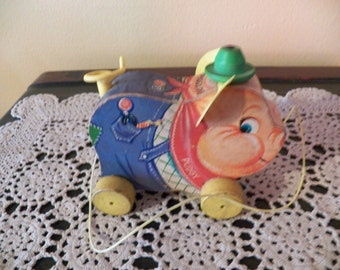 Fisher-Price # 478 Pudgy Pig, 1962