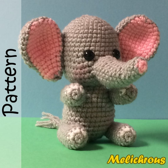 Erin the Elephant Pattern Crochet Amigurumi PDF