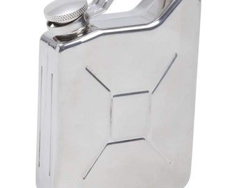 Flask, Gas Can, Jerry Can  shape with Free Fngraving