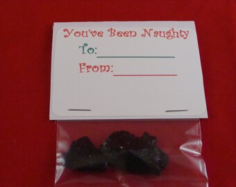 Coal Gift Tag, Novelty Gift