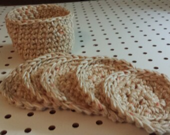 Face Scrubbers (5)/Basket/or Coasters