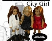 "City Girl Dress, Jacket and Shorts Pattern for American Girl & similar 18"" dolls"