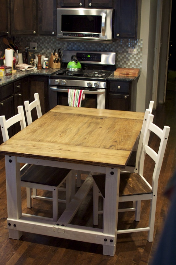Farmhouse Dining Table Dinner Table Dining Set By EJWoodworks