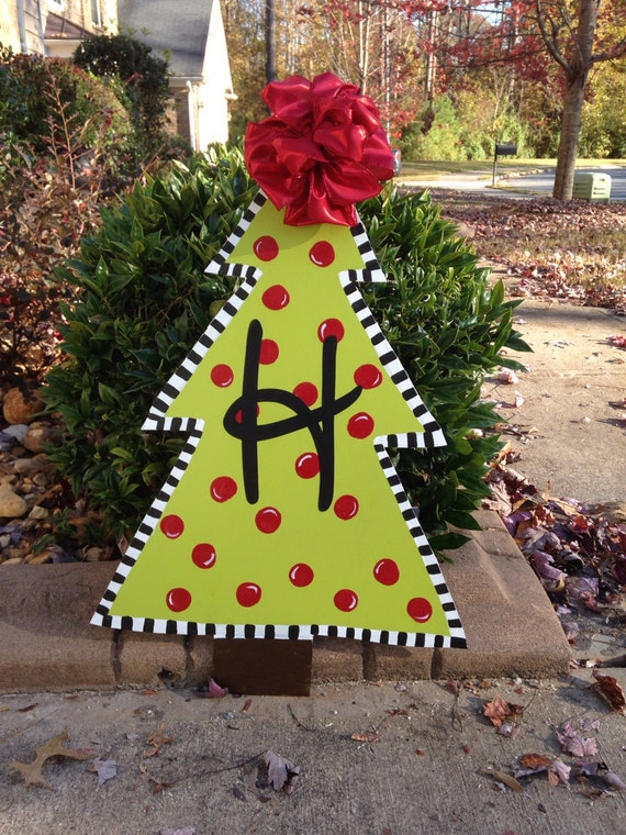 Unavailable listing on etsy for Christmas tree lawn decoration