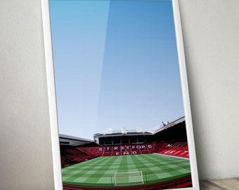 Manchester United Old Trafford Illustration