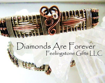 Diamonds Are Forever Bracelet,Cuff ,Instant Download PDF Tutorial ,Free Gift Tutorial, Wire Wrapping, Wire Weaving, Diamond Weave , Pattern