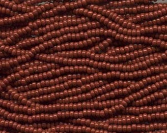 Seed Beads, 8/0, 6 String Hank, Mini Hanks, 20 Inch Loops, Brown, Value, Glass Beads, 38 Grams, #13600