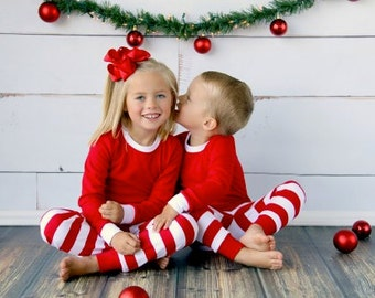 Items similar to Personalized Kids Christmas PJs - Kids Christmas ...