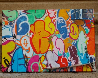 Photography print on canvas of alphabet mural painted in Philadelphia