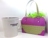 Gift Bag Designer purse style purple and green designs of the Dixie Diva Collection 6x4