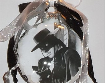 Zorro inspired Tribute Christmas Ornament