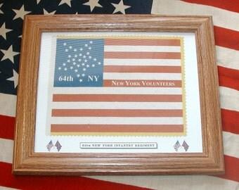 34 Star Flag, Civil War National Flag....64th New York Infantry Flag