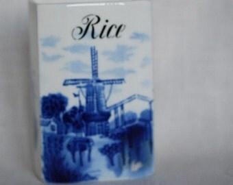 Dutch Rice Container  Porcelain