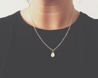 Personalised Brass Teardrop Necklace