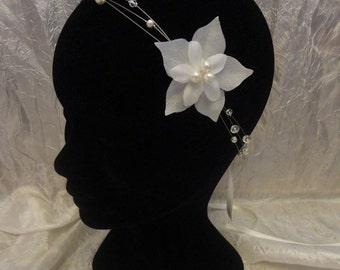 Headband / Necklace Zelie bohemian retro wedding bridal pearl beads and swarovski crystal  Collier /headband mariage mariée bohéme