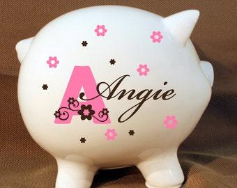 8 inch piggy bank etsy - Extra large ceramic piggy bank ...