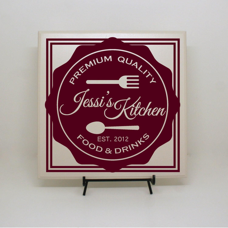 Custom Kitchen Sign Custom Tile Personalized Tile