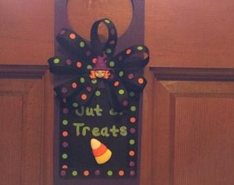 Out of Treats Halloween Door Hanger