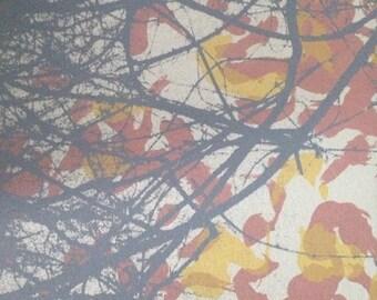 """Untitled, handmade silkscreen print, 1 of 1, size 5"""" x 5"""""""