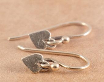 Petite 14K Gold Heart earrings