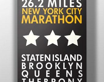 NYC Marathon Print