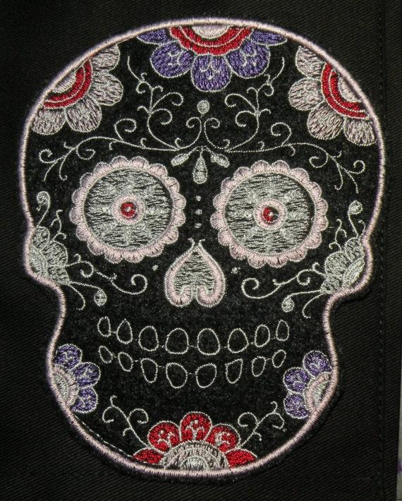 dia de los muertos patch Sugar Skull Iron On Patch sugar skull