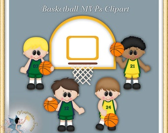 Basketball Clipart, Sports Players