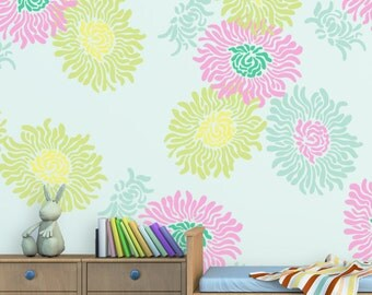 Flower Stencil Jasmin Large size Reusable wall stencil better than decals