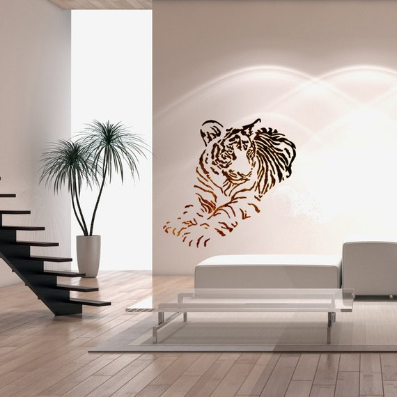 Wall Stencils Large Size Airbrush Stencil Template Tiger