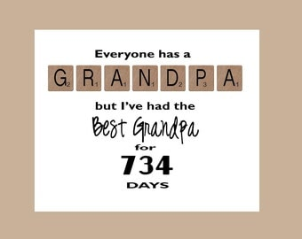Grandpa Birthday Card Grandpa Fathers Day Card