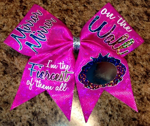 Mirror Mirror on the wall cheer bow by Baddablingbows on Etsy