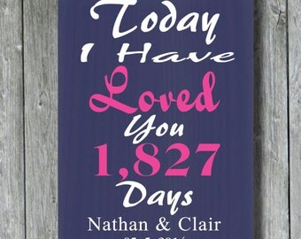 Personalized Wedding Sign,Anniversary Gift,Engagement Gift,Bridal Shower,Valentine Sign,Important Date,5th Anniversary,Custom Wood Sign