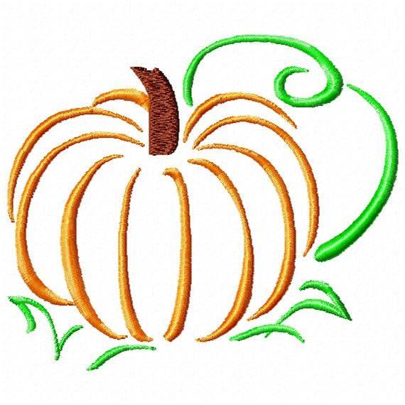 Machine Embroidery Pumpkin Outline