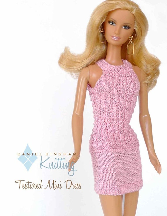 Knitting Patterns For Barbie Dolls : Knitting pattern for 11 1/2 doll Barbie: Textured