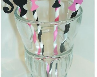 Barbie Straws, Photo Prop Birthday Party Baby Shower (906S)