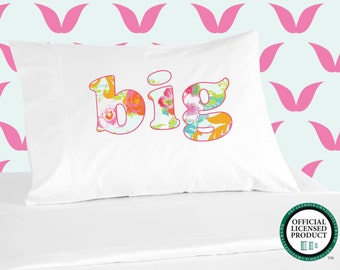 Digitally Printed Sorority Pillowcases - BIG with Floral Design