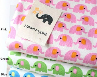 Oxford Cotton Fabric Baby Elephant in 3 Colors By The Yard