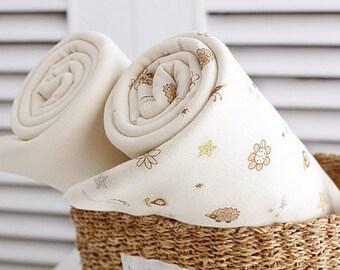 Organic Interlock Knit Cotton Fabric in 2 Patterns By The Yard